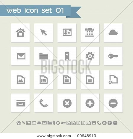Industrial icon set. Simple flat buttons