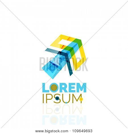 Logo, abstract geometric business icon. Vector illustration