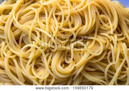 spaghetti, symbol of culinary art, way of life and chaos