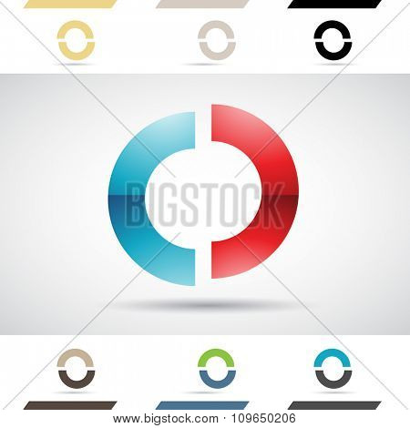 Design Concept of Colorful Stock Logos Icons and Shapes of Letter O, Vector Illustration