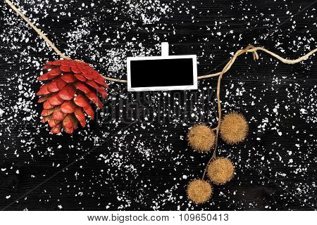 Natural Christmas Decoration Of Pinecone