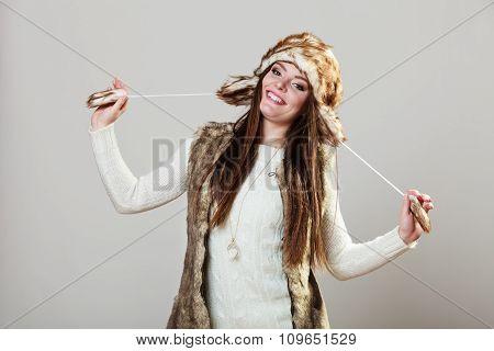 Winter Cute Girl Fashion.