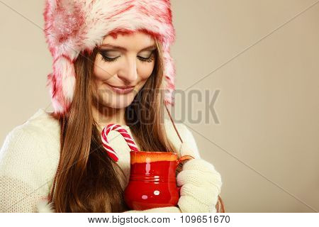 Woman With Christmas Sweets