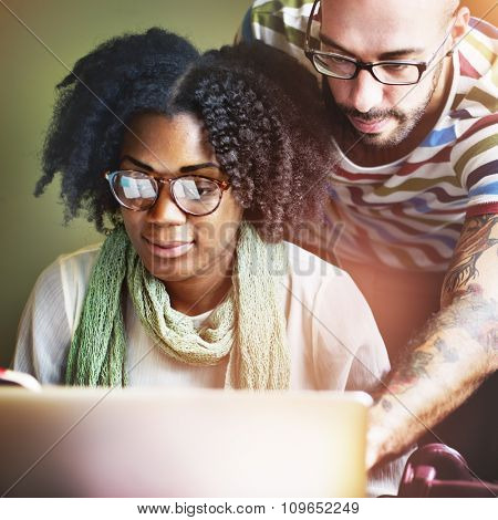 Team Partner Discussion Communication Concept