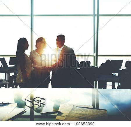 Business People Meeting Corporate Teamwork Collaboration Concept