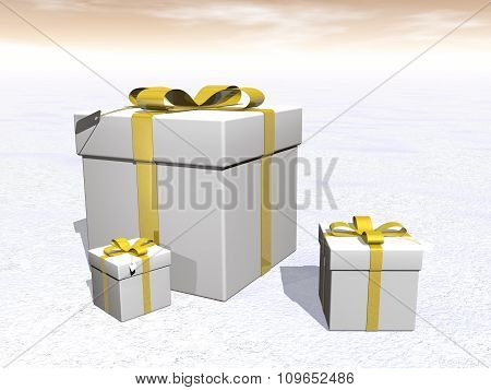 Gifts - 3D render