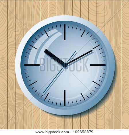 Wall mounted digital clock.