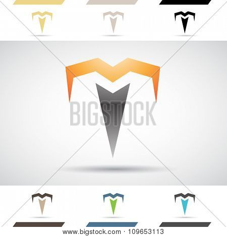 Design Concept of Colorful Stock Icons and Shapes of Letter T, Vector Illustration