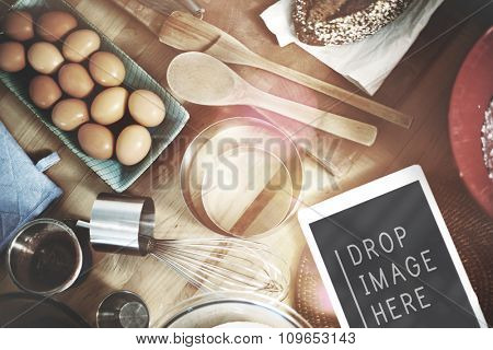 Bake Bakery Baking Ingredients Gourmet Kitchen Concept