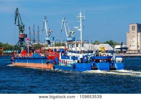 Gdansk. Tug Boat at the seaport.