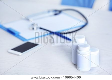 Doctor workplace in office