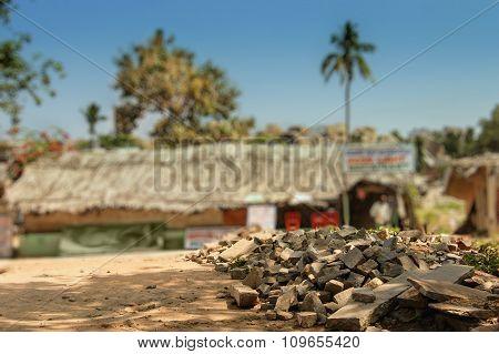 Village Hut In Hampi, India