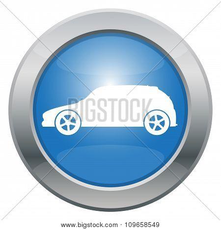 Sporty Hatchback Car Icon