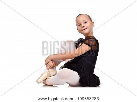 Ballerina Sitting On Floor