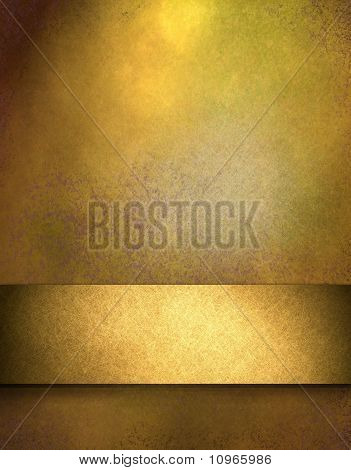 Elegant Gold Background With Copy Space