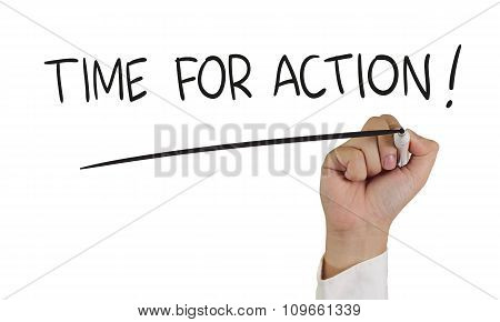 Time For Action Words Concept