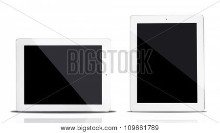 Tablet computers isolated on white