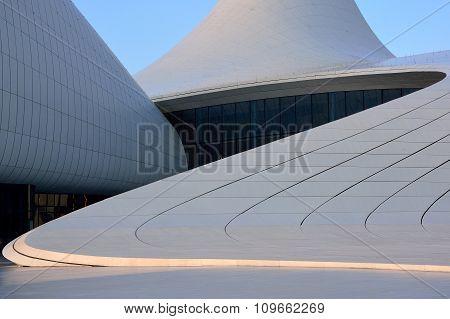 Curves on the Heydar Aliyev Cultural Centre, in Baku, the capital of Azerbaijan