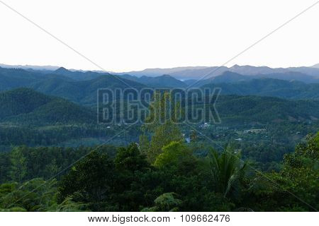 House, Mountain And Forest View