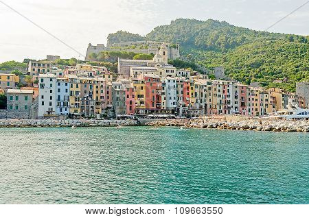 View Of Portovenere, Ligurian Coastline, Near Cinque Terre