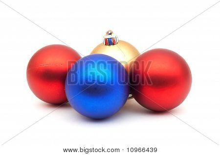 Red And Blue Christmas Blubs