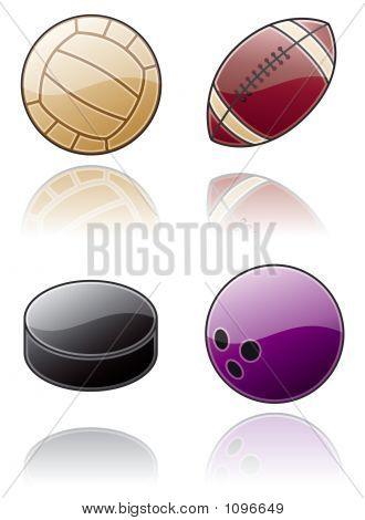 Design Elements 50B. Sport Balls Icon Set