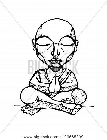 Budhist Monk