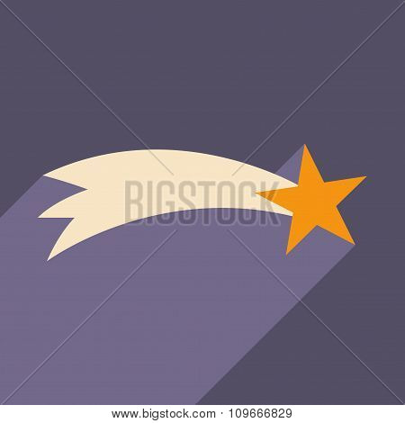 flat icon with long shadow Christmas star