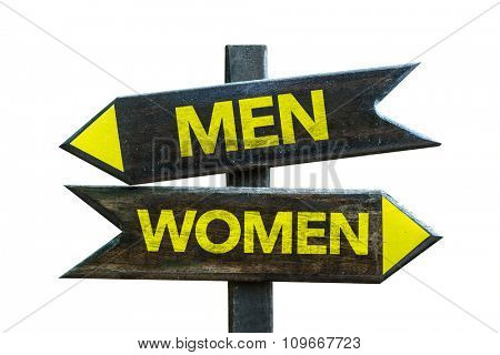 Men - Women signpost isolated on white background