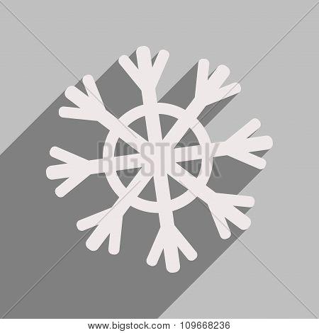 flat icon with long shadow Christmas snowflake