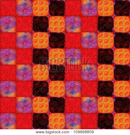 Red purple orange pattern