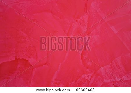 Abstract Painting Background In Red Color