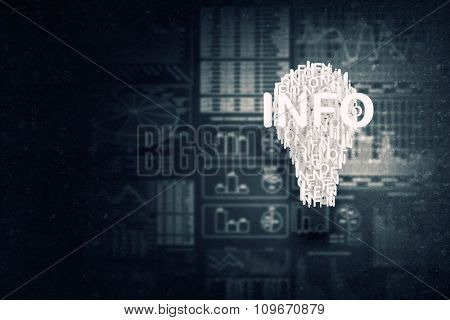 Concept of business ideas and strategy on cement background