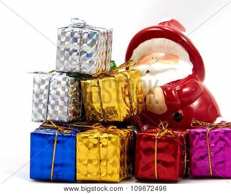 Decoration Santa Claus With Gift Box