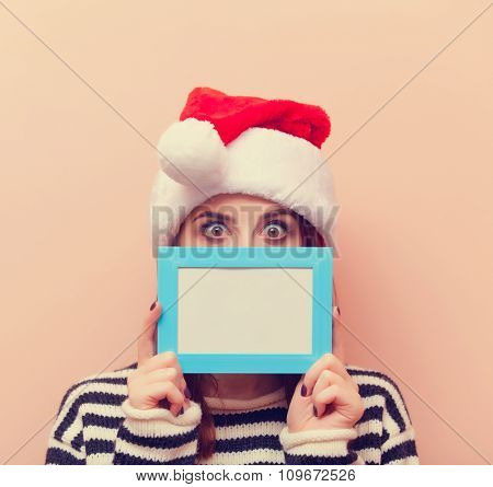 Woman With Photo Frame