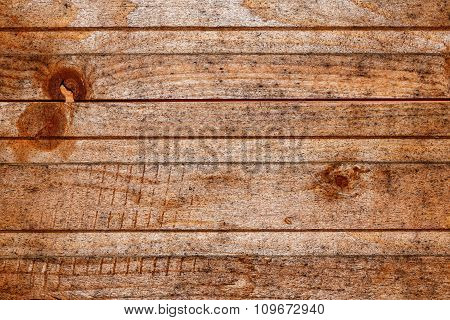 Processed Old Pine Boards Background.