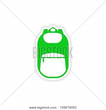 icon sticker realistic design on paper backpack