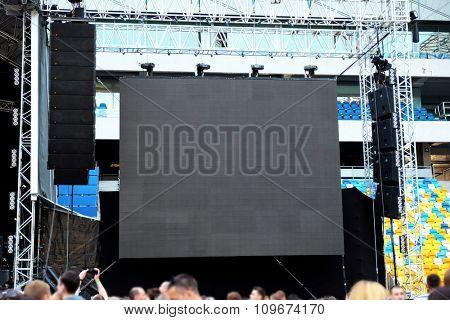 Stadium screen close up