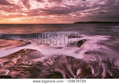 Magenta Sunrise Seascape