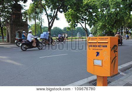 A mail box of Vietnam Post and Telecommunication Corporation