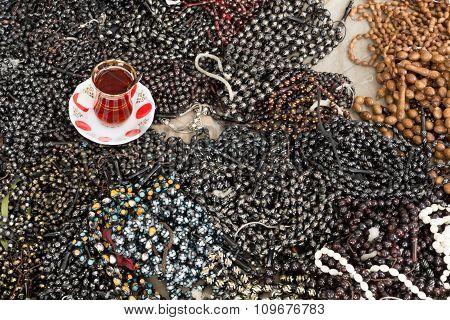 tea and beads