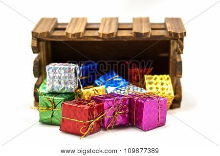 Gift Box Drop Off Wood Crate