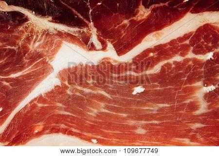 texture of spanish ham - iberico bellota jamon