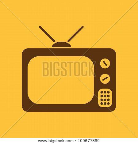 The tv icon. Television symbol. Flat