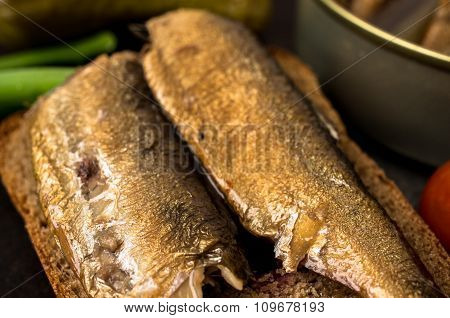 Tapas With A Large Smoked Sardines