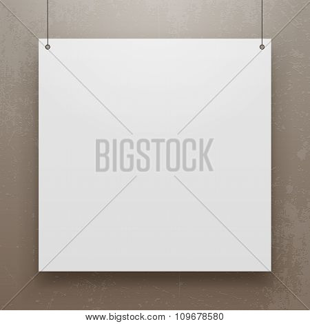 Realistic Paper Sheet square Mockup