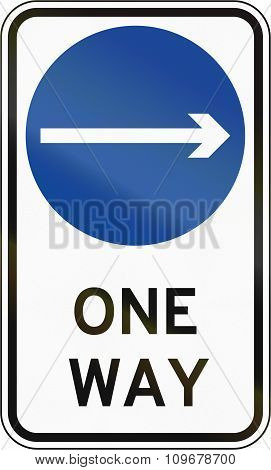 Road Sign In The Philippines - Direction To Be Followed - Proceed Right Only On One Way Street