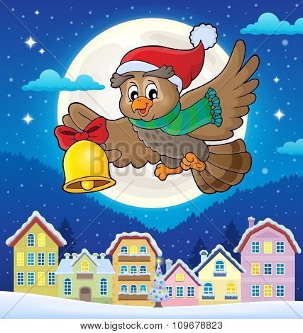 Christmas owl theme image 4 - eps10 vector illustration.