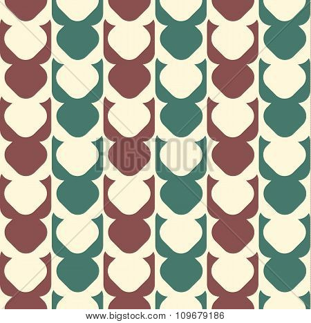 Geometric Seamless Pattern Background With Round Corner Square.