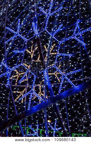 Winter Holiday Street Lights Snowflakes Illumination